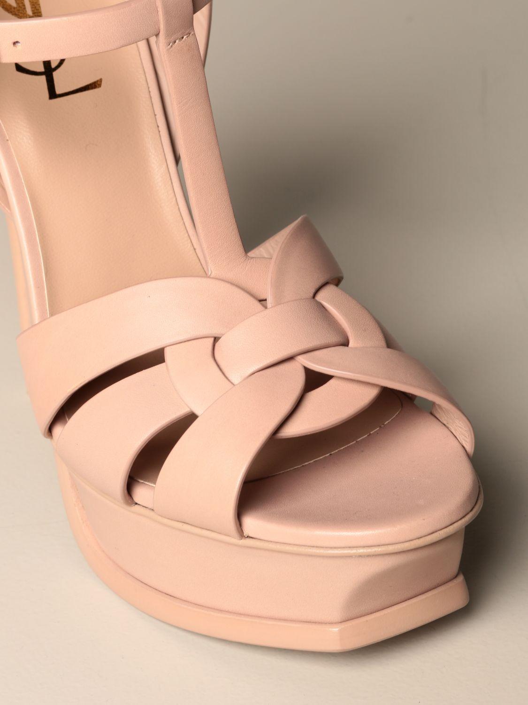 Heeled sandals Saint Laurent: Shoes women Saint Laurent beige 4