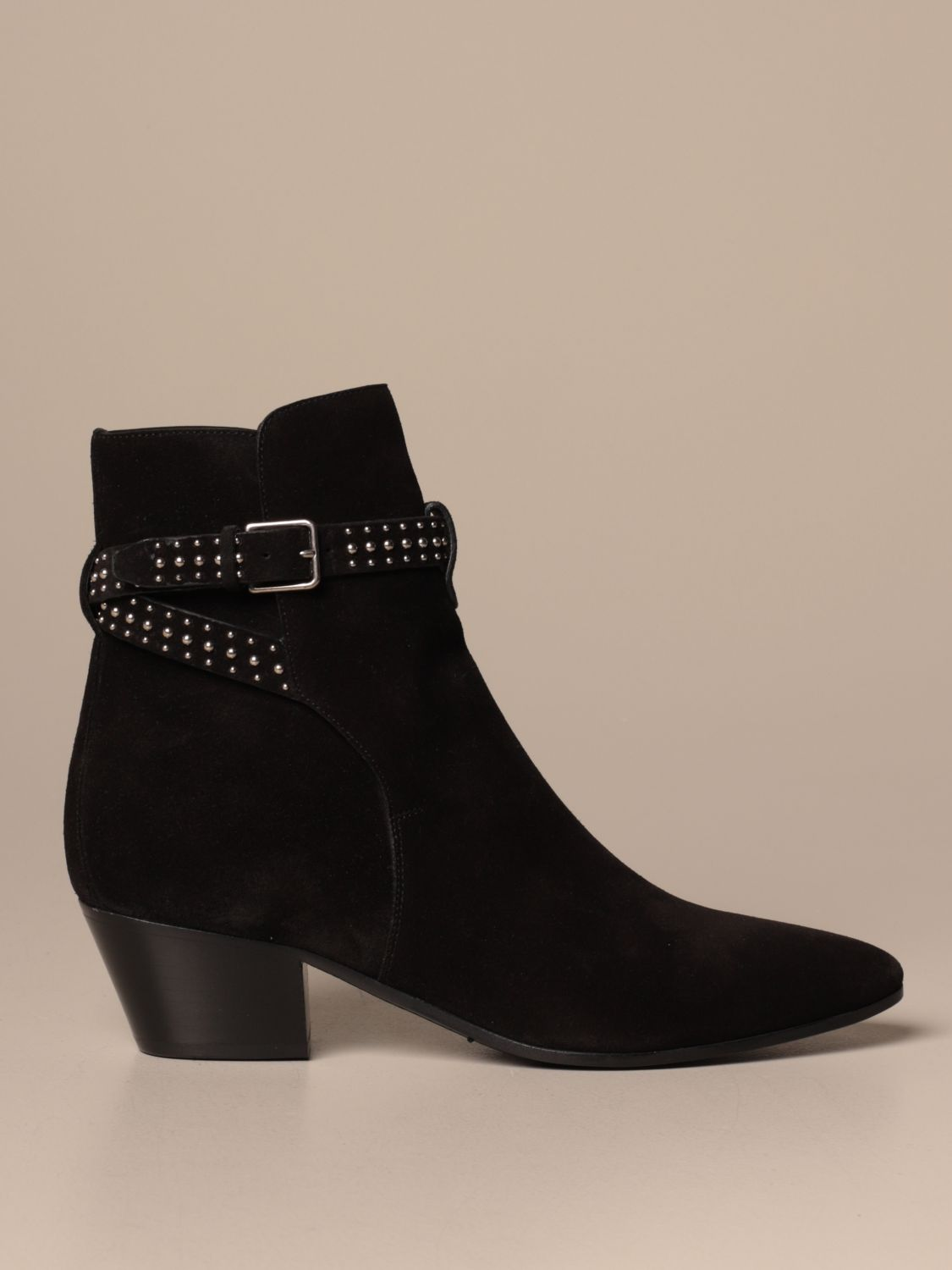 Heeled ankle boots Saint Laurent: Shoes women Saint Laurent black 1