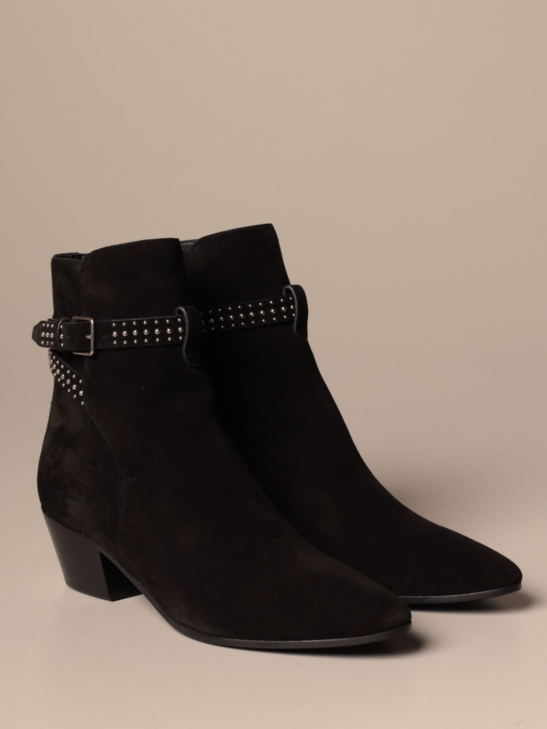 Heeled ankle boots Saint Laurent: Shoes women Saint Laurent black 2