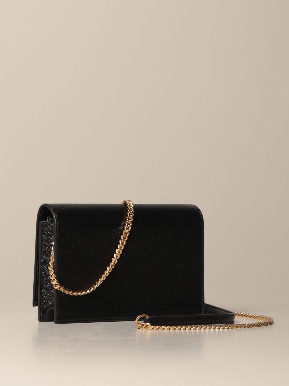 Umhängetasche Saint Laurent: Kate Monogram Saint Laurent Tasche aus Narbenleder schwarz 3
