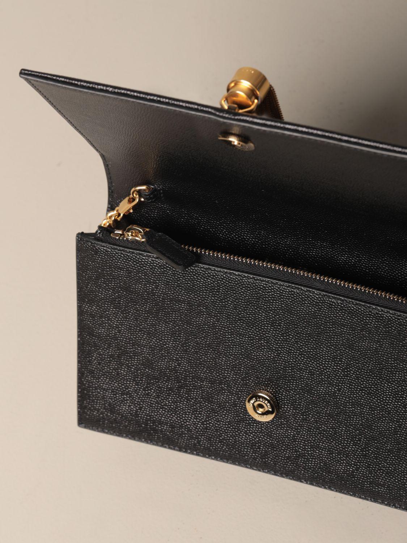 Umhängetasche Saint Laurent: Kate Monogram Saint Laurent Tasche aus Narbenleder schwarz 5