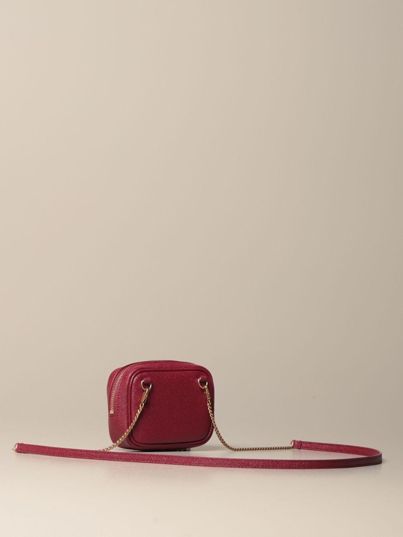 Mini- Tasche Saint Laurent: Lou Nano Saint Laurent Tasche aus Narbenleder rot 3