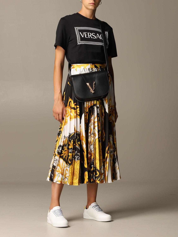 T-Shirt Versace: Versace T-shirt with 90s Vintage logo black 2