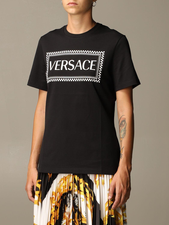 T-Shirt Versace: Versace T-shirt with 90s Vintage logo black 4