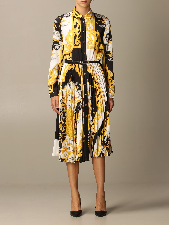 Kleid Versace: Kleid damen Versace gold 1