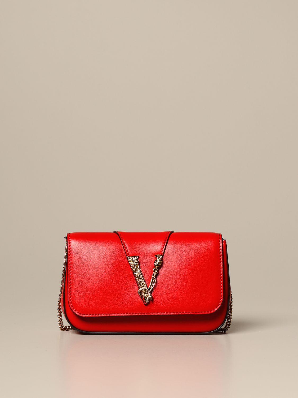 Mini bag Versace: Shoulder bag women Versace red 1