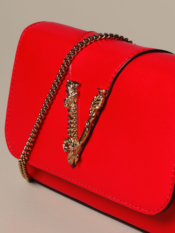 Mini bag Versace: Shoulder bag women Versace red 3