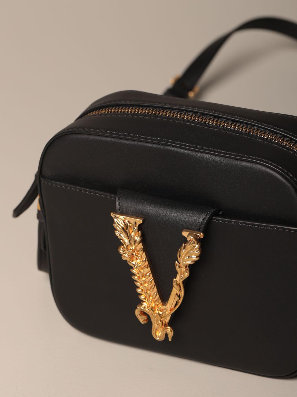 Mini bag Versace: Shoulder bag women Versace black 4