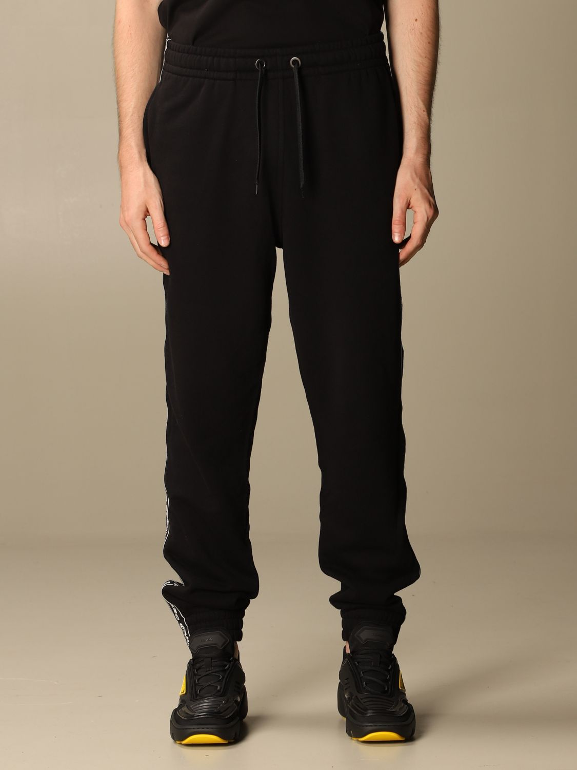 Trousers Burberry: Trousers men Burberry black 1