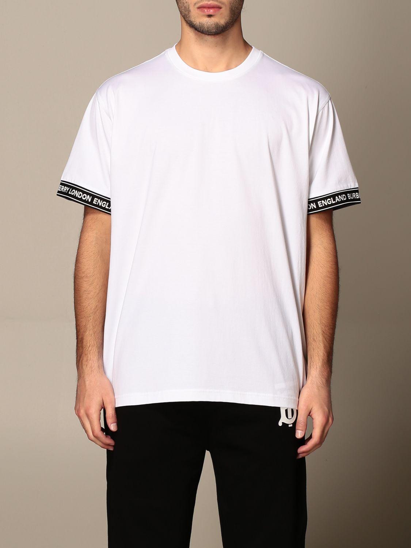 T-shirt Burberry: T-shirt homme Burberry blanc 1