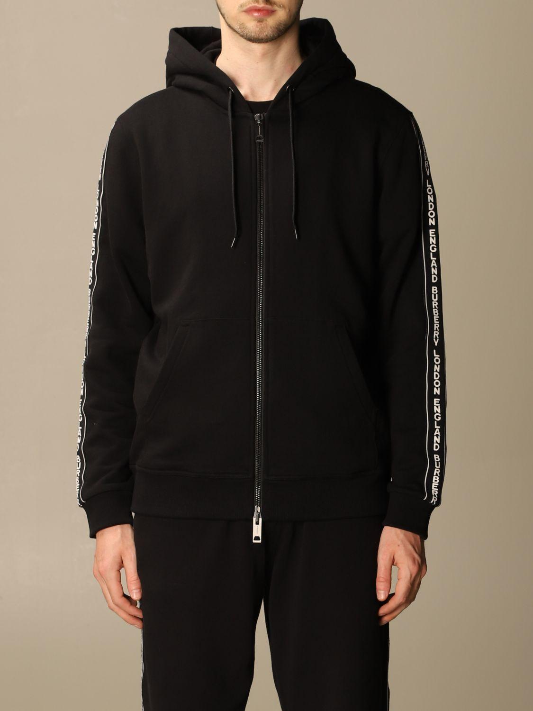 Sweatshirt Burberry: Siren Burberry cotton sweatshirt with logoed bands black 1