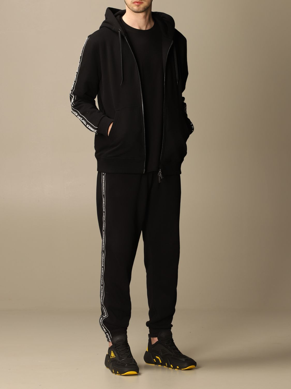 Sweatshirt Burberry: Siren Burberry cotton sweatshirt with logoed bands black 2