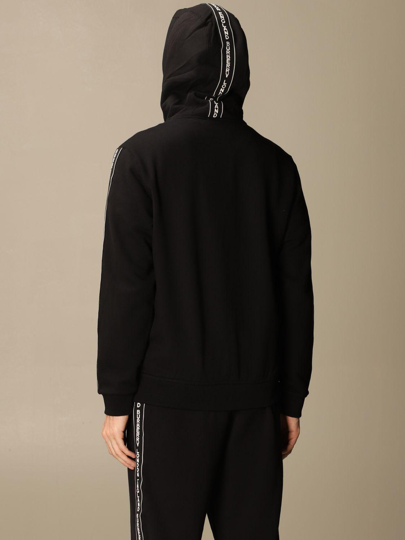 Sweatshirt Burberry: Siren Burberry cotton sweatshirt with logoed bands black 3