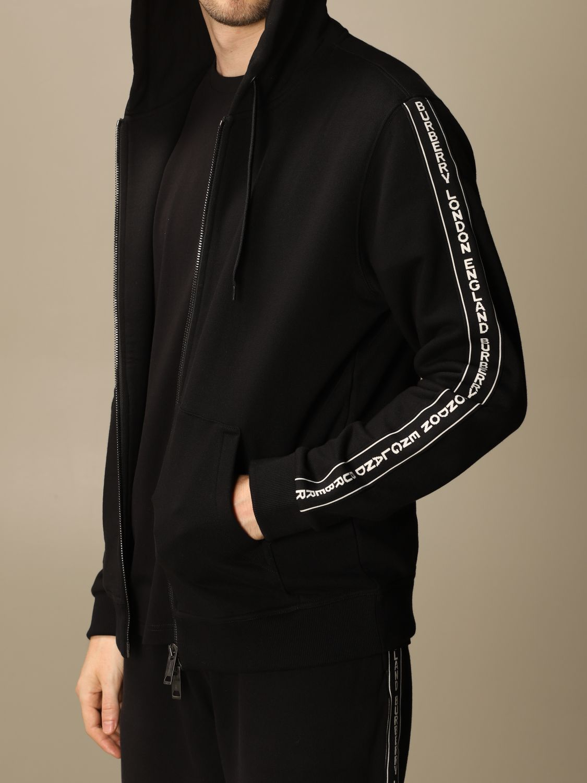 Sweatshirt Burberry: Siren Burberry cotton sweatshirt with logoed bands black 5