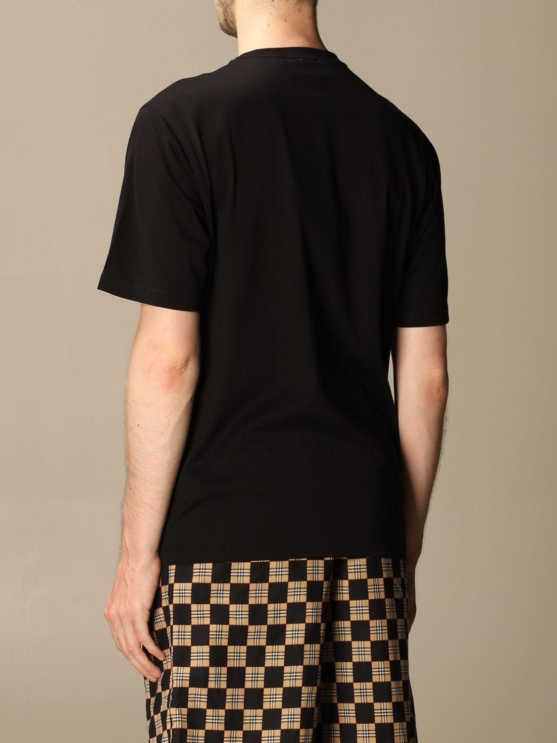 T-shirt Burberry: Ganther Burberry stretch cotton T-shirt with TB monogram black 3