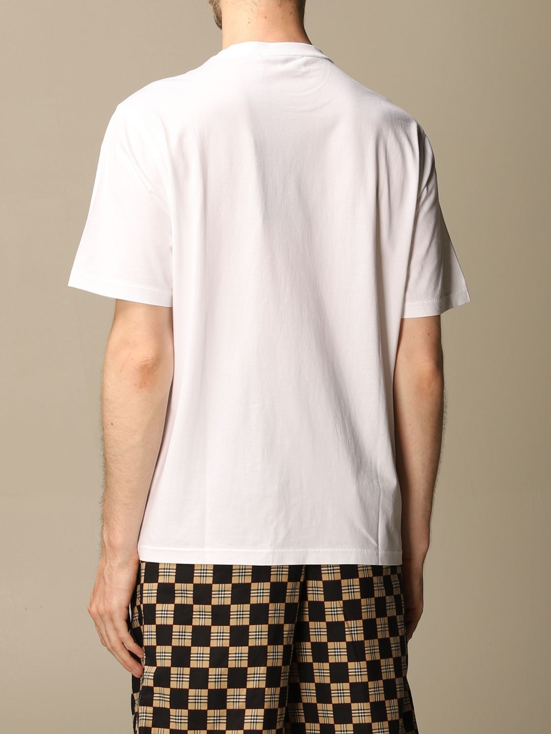 T-shirt Burberry: Ganther Burberry stretch cotton T-shirt with TB monogram white 3
