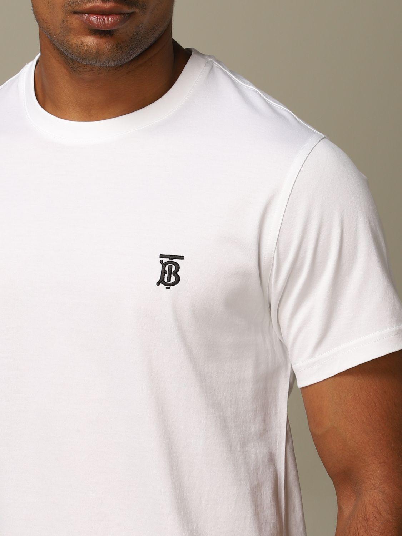T-Shirt Burberry: T-shirt herren Burberry weiß 4