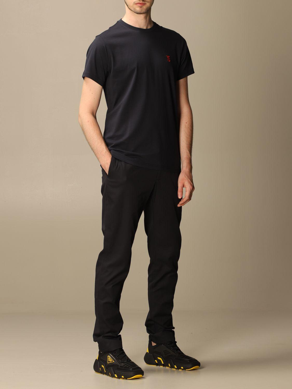 T-shirt Burberry: Parker Burberry stretch cotton T-shirt with TB monogram blue 2
