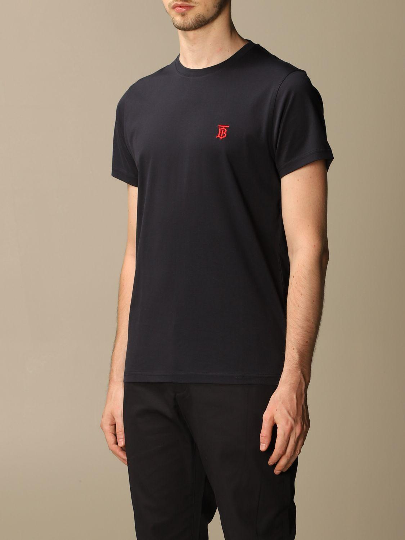 T-shirt Burberry: Parker Burberry stretch cotton T-shirt with TB monogram blue 4