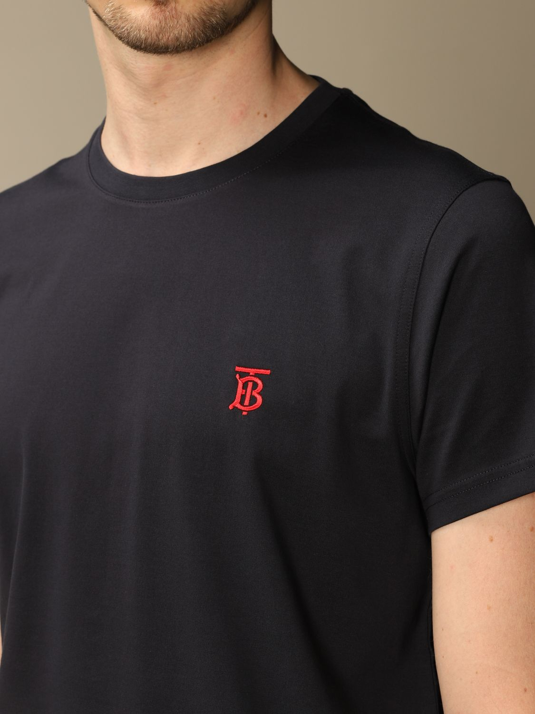 T-shirt Burberry: Parker Burberry stretch cotton T-shirt with TB monogram blue 5
