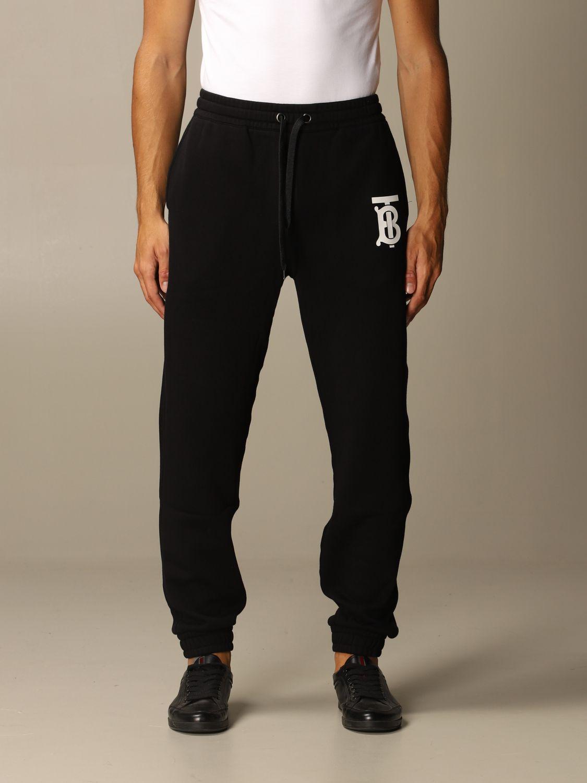 Trousers Burberry: Trousers men Burberry black 1