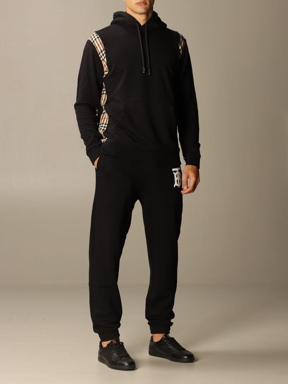 Trousers Burberry: Trousers men Burberry black 2