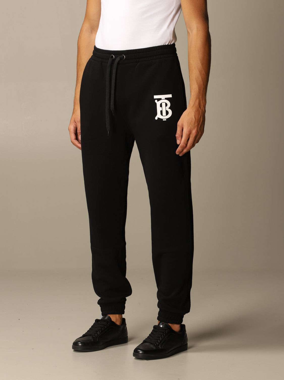 Trousers Burberry: Trousers men Burberry black 4