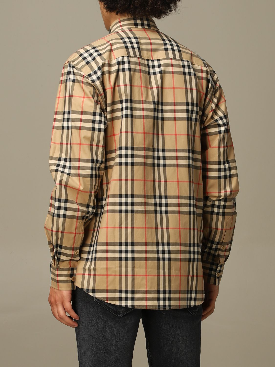 Shirt Burberry: Caxton Burberry shirt in cotton poplin with check pattern beige 2