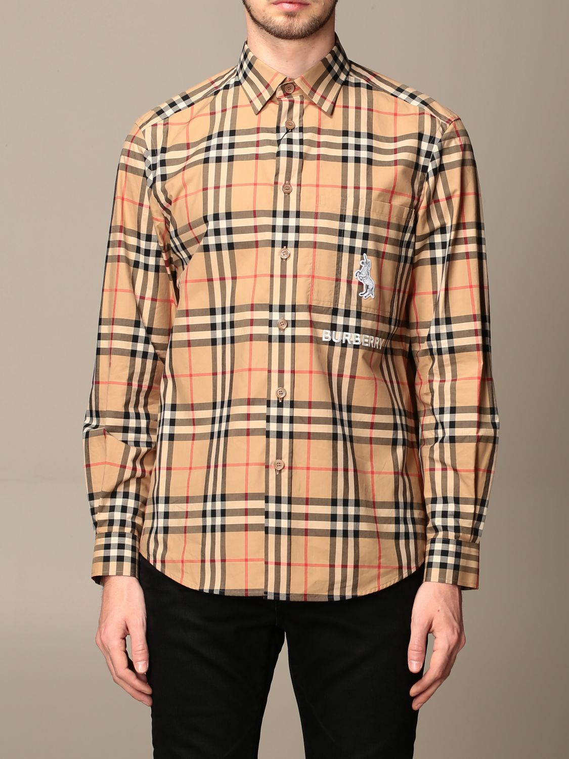 Chemise Burberry: Chemise homme Burberry beige 1