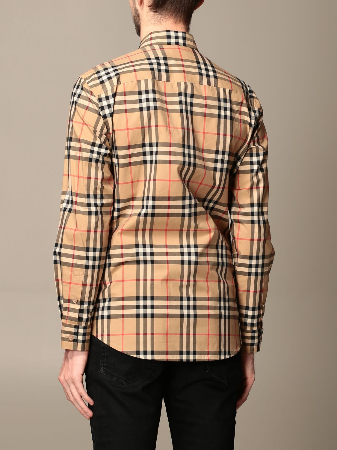 Chemise Burberry: Chemise homme Burberry beige 2