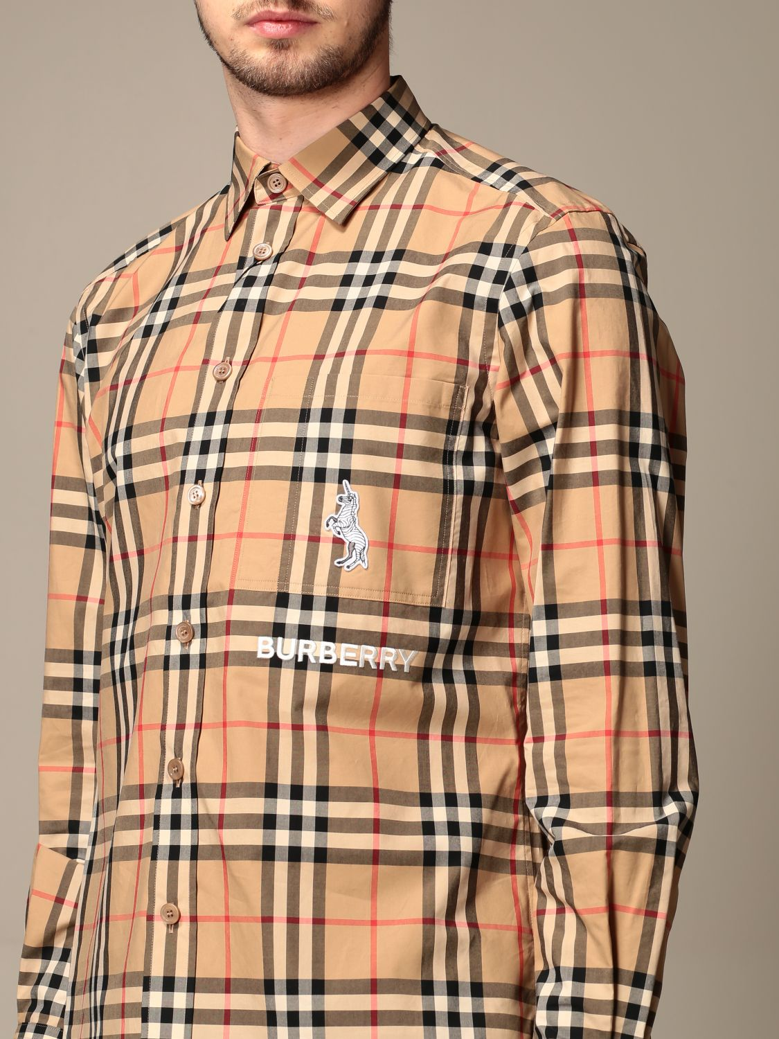 Chemise Burberry: Chemise homme Burberry beige 3
