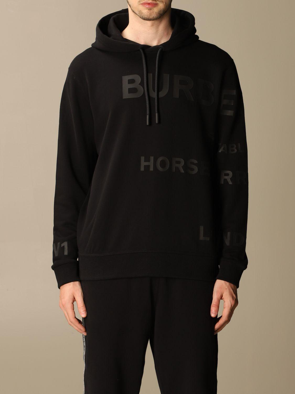 Sweatshirt Burberry: Sweatshirt homme Burberry noir 1