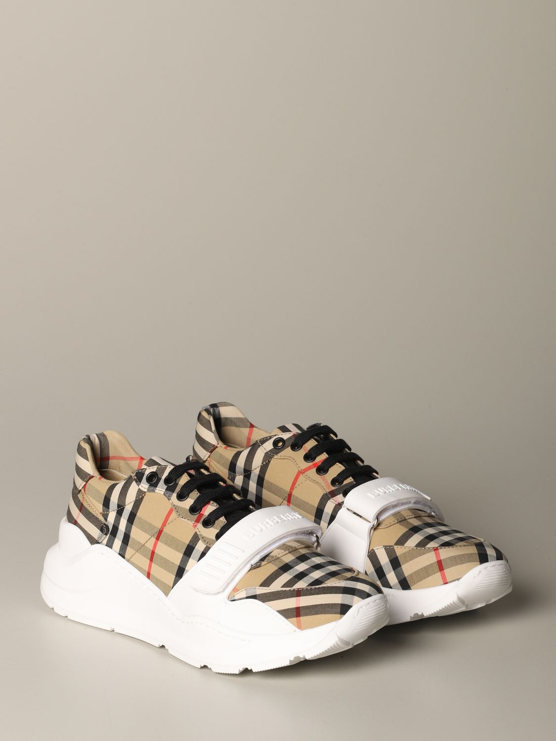 Sneakers Burberry: Regis M Low Burberry sneakers in check cotton canvas beige 2