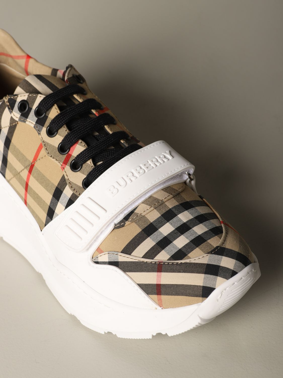 Sneakers Burberry: Regis M Low Burberry sneakers in check cotton canvas beige 3