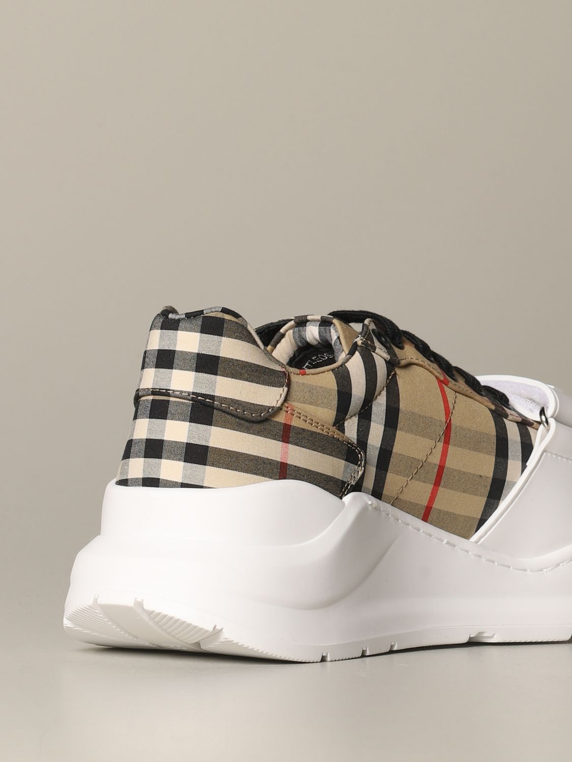 Sneakers Burberry: Regis M Low Burberry sneakers in check cotton canvas beige 4