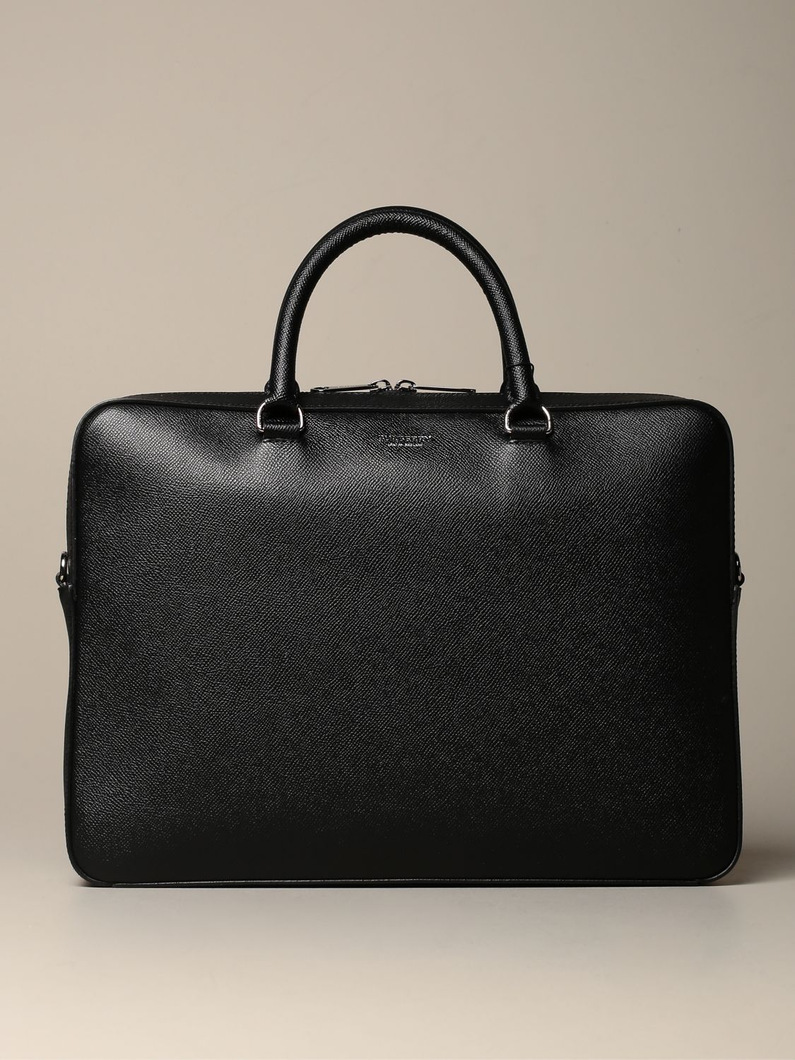 Bags Burberry: Burberry briefcase in grained leather black 1