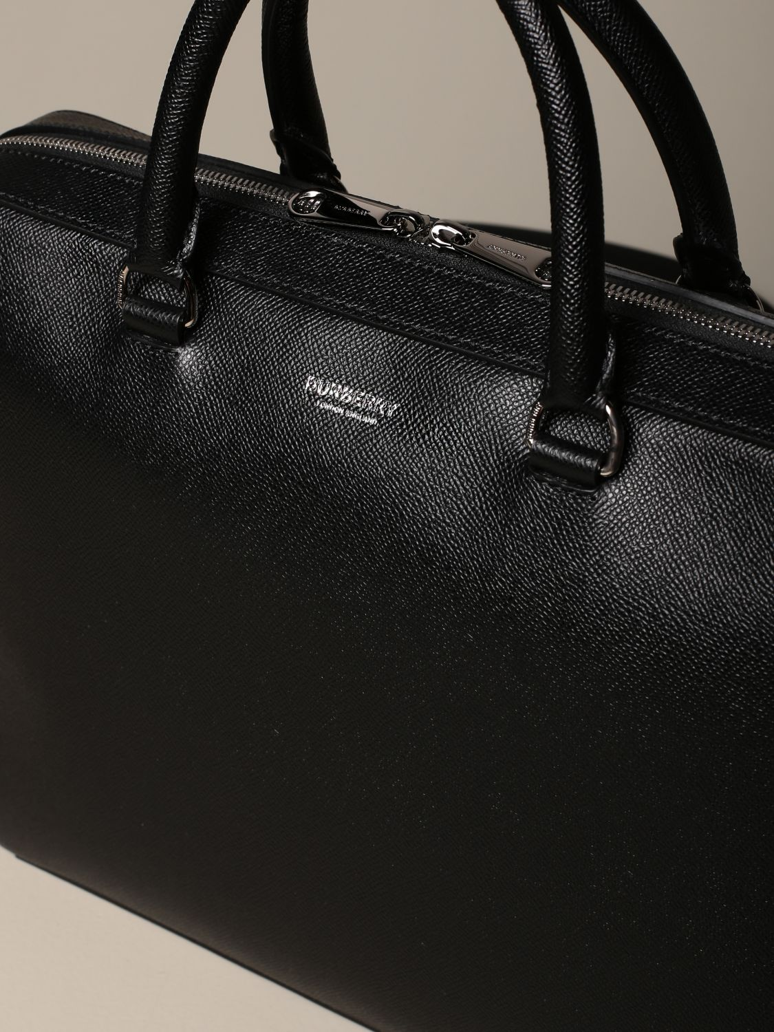 Bags Burberry: Burberry briefcase in grained leather black 3