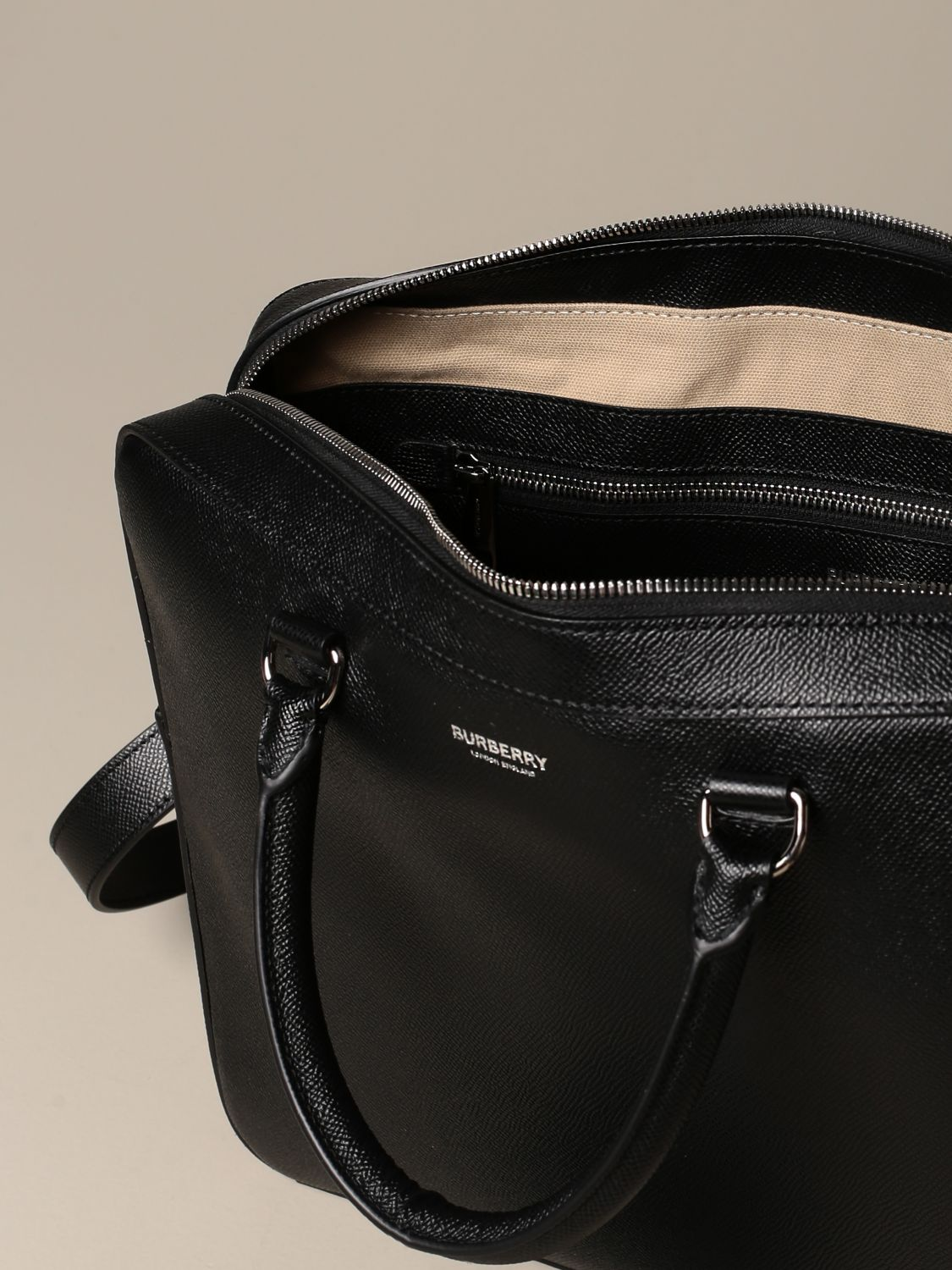 Bags Burberry: Burberry briefcase in grained leather black 4