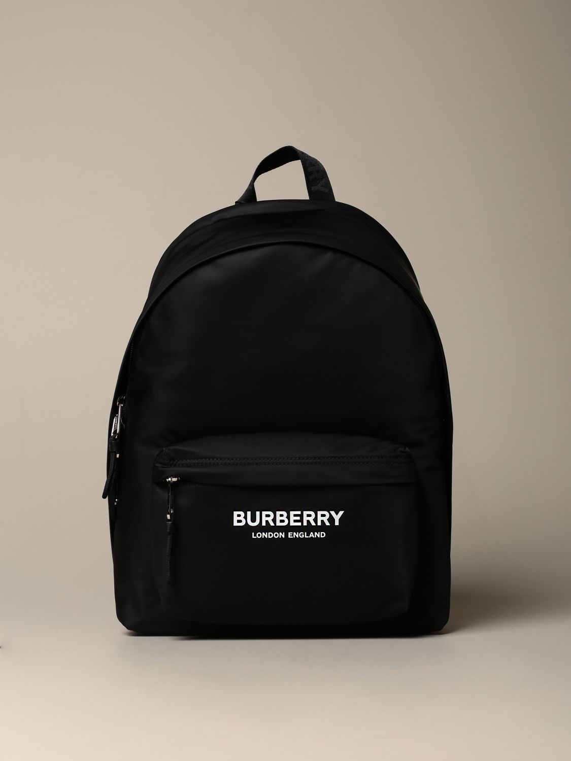 Backpack Burberry: Burberry eco-nylon backpack with London England logo black 1