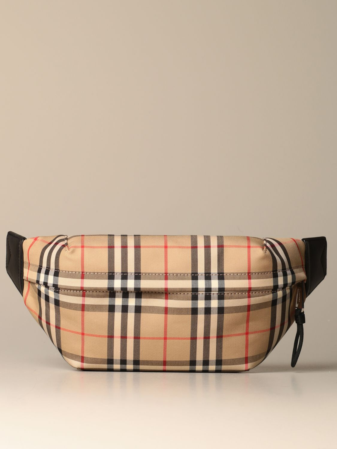 Belt bag Burberry: Burberry belt bag in eco nylon with check print yellow 1