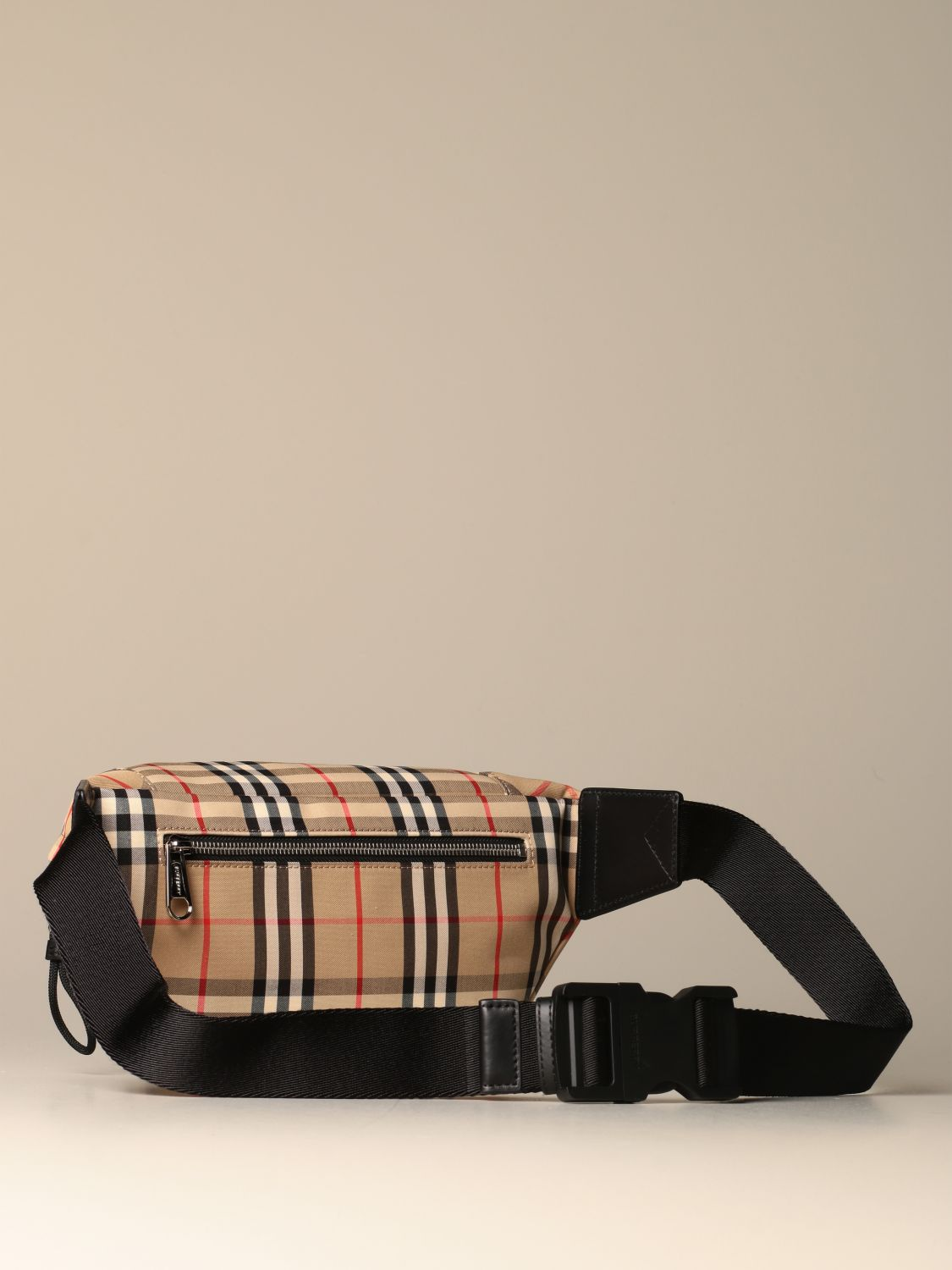 Belt bag Burberry: Burberry belt bag in eco nylon with check print yellow 2