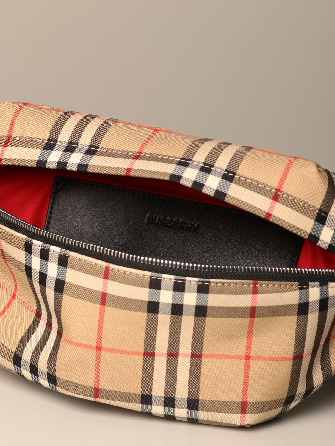 Belt bag Burberry: Burberry belt bag in eco nylon with check print yellow 4