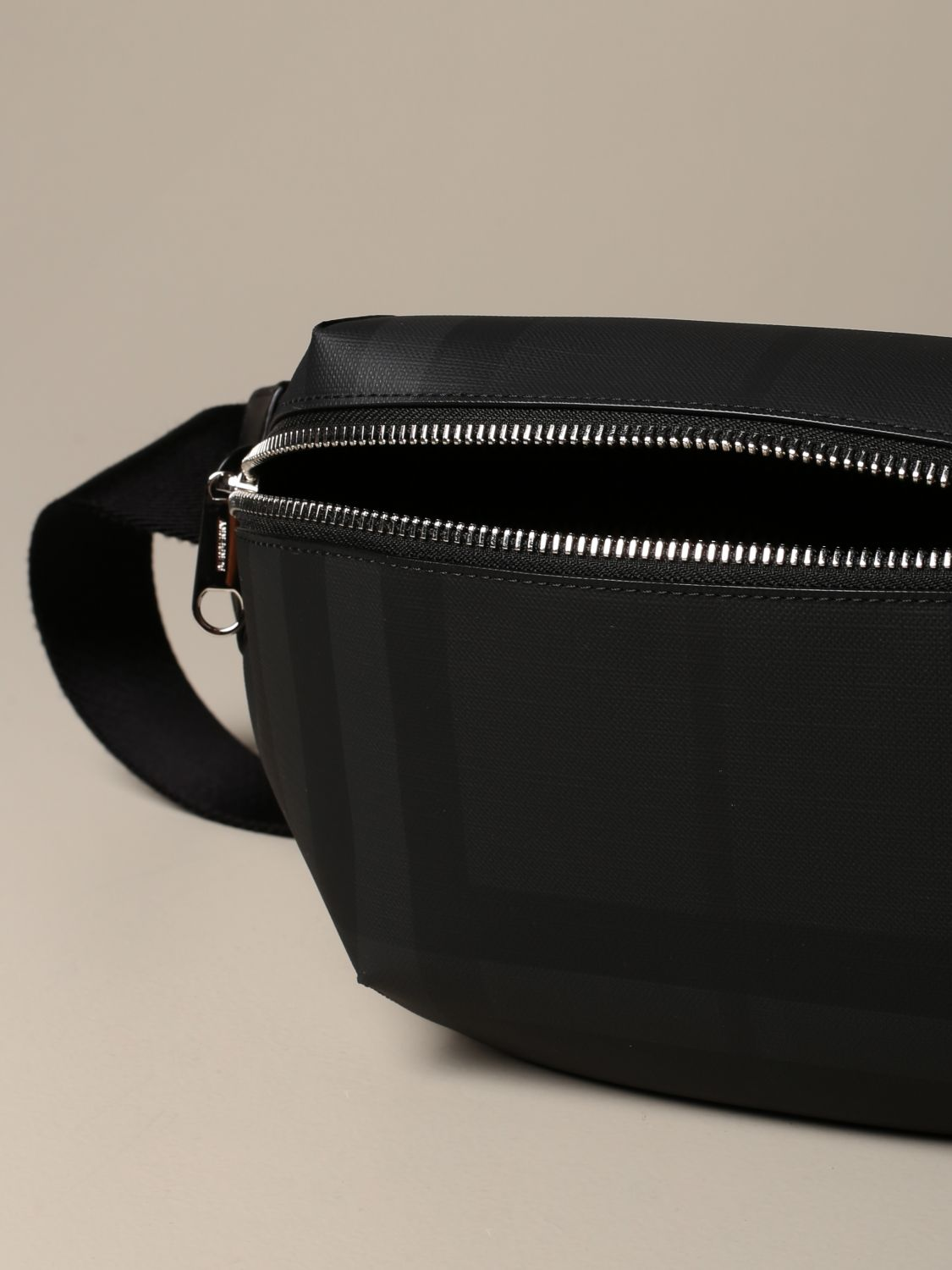 Belt bag Burberry: Sonny Burberry belt bag with London check motif black 4