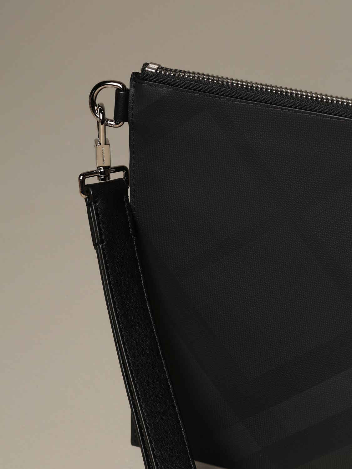Wallet Burberry: Burberry pochette with London check motif lead 3