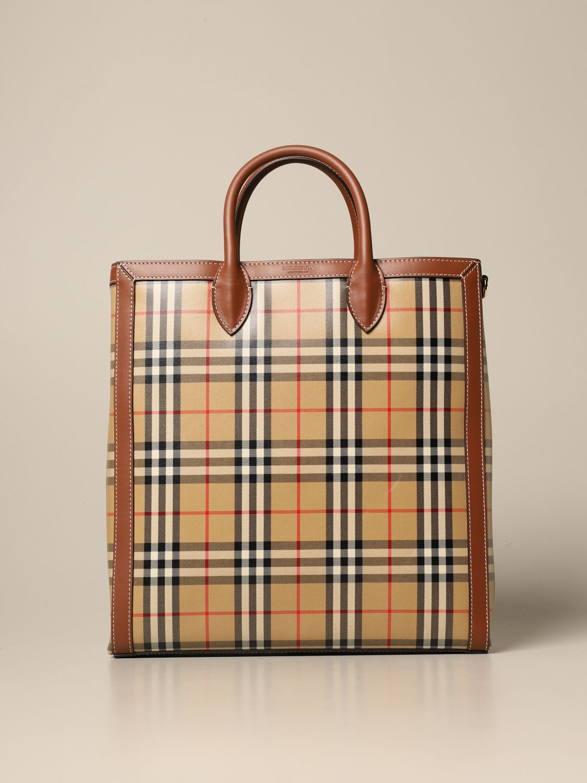 Shoulder bag Burberry: Bags men Burberry beige 1