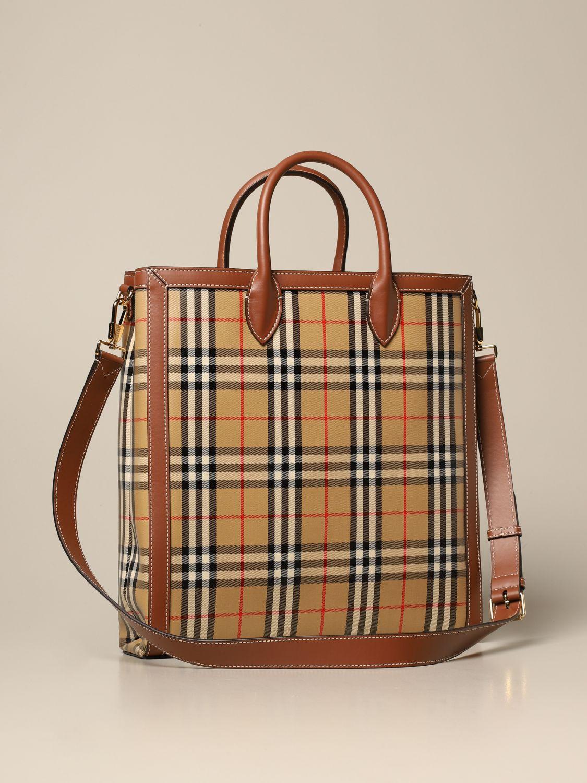 Shoulder bag Burberry: Bags men Burberry beige 2