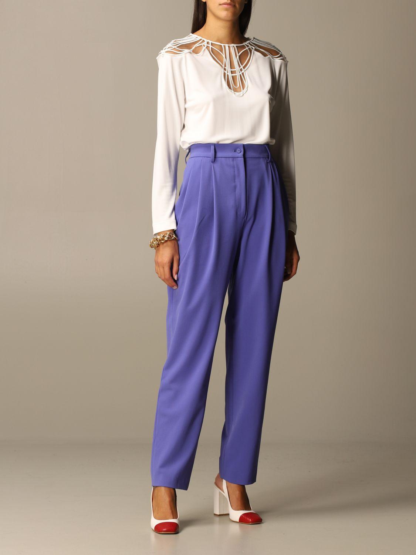 Trousers Alberta Ferretti: Trousers women Alberta Ferretti lilac 2