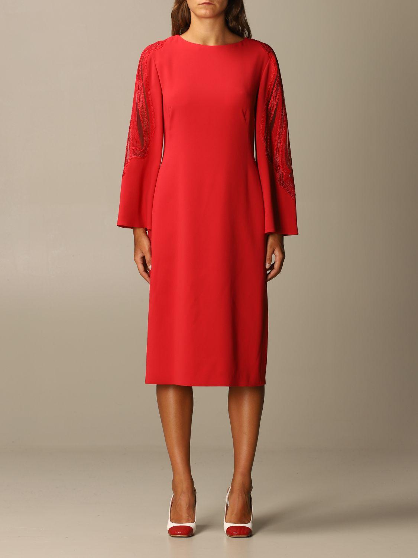 Платье Alberta Ferretti: Платье Женское Alberta Ferretti красный 1