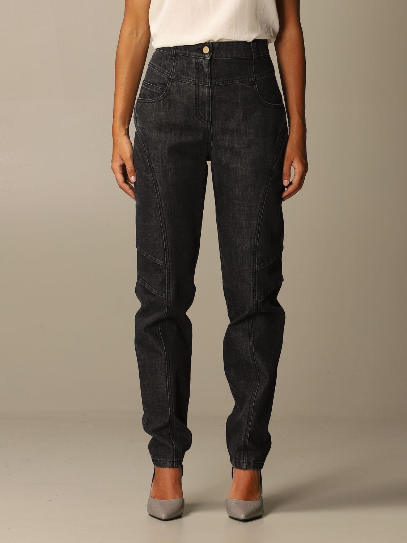 Jeans Alberta Ferretti: Jeans femme Alberta Ferretti gris 1