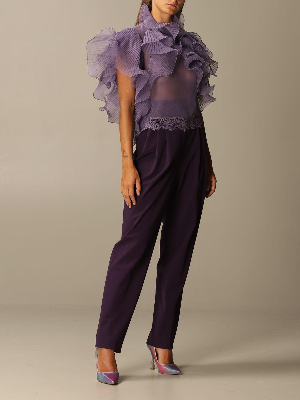 Top Alberta Ferretti: Top women Alberta Ferretti lilac 2